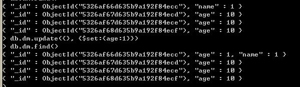 MongoDB查询结果